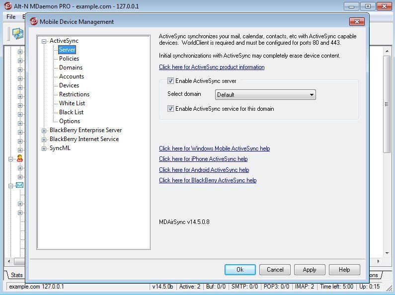 MDaemon Messaging Server Screenshot