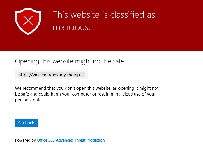 Email Phishing Office 365